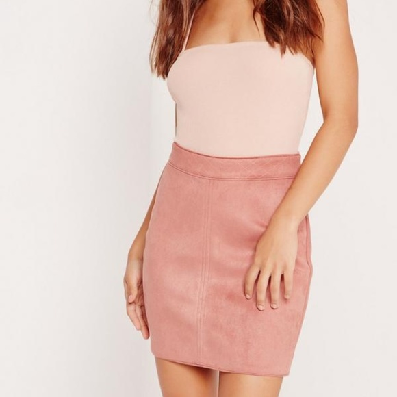 989f9151d Missguided Skirts | 35 Nwt Dusty Rose Faux Suede Skirt | Poshmark